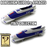 3d bobsleigh sled - italy