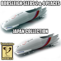 3d bobsleigh sled - japan