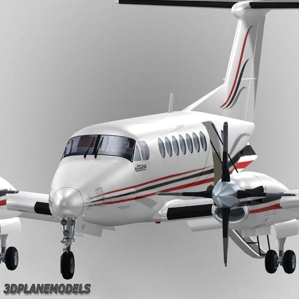 beechcraft super king air 3d max - Beechcraft Super King Air B350 Bongrain Benelux S.A.... by 3Dplanemodels