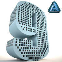 3d model building shape number 9