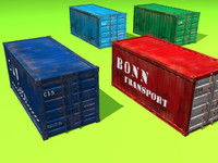 3d model container 10 variations