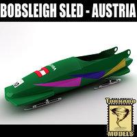 bobsleigh sled - austria 3d 3ds