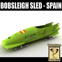 3d bobsleigh sled - spain model
