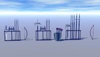 weapon rack 3d model