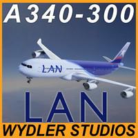 a340 340 340-300 3d model