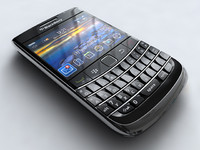 blackberry bold 9700 mobile phone 3d model