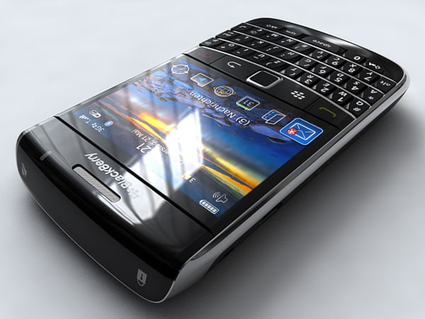 blackberry bold 9700 mobile phone 3d model - BlackBerry Bold 9700... by cgmobile