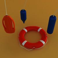 buoys 3d model