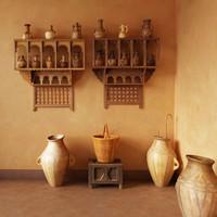 oriental marocco jugs 3d 3ds