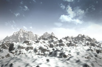 realistic mountains 3d max