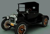 3d model 1923 t roadster