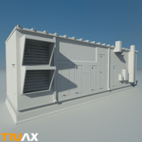 3ds max studio large ac unit