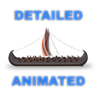 3ds max original viking ship