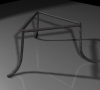 3ds max tripod cast-iron kettle