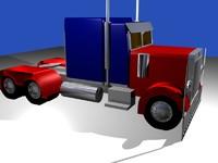 3d model optimus prime truck