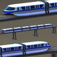 monorail train track 3d model