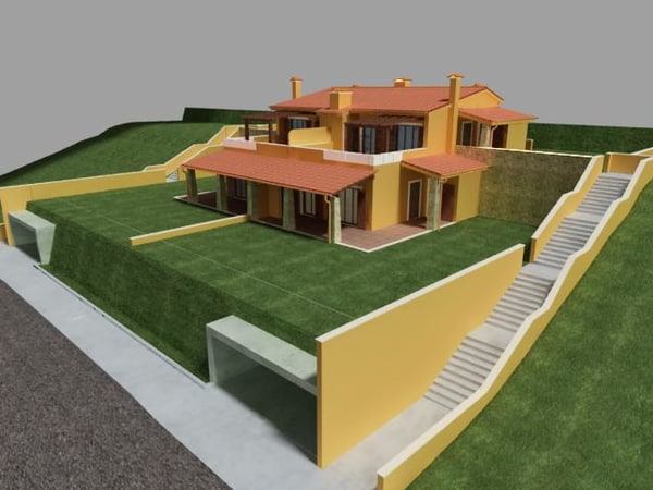 3ds max semi detached house - semi detached house.max.zip... by bauz