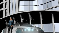 obj futuristic car
