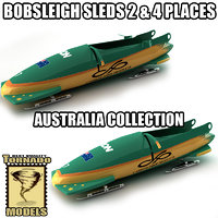3d bobsleigh sled - australia model
