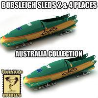 3d bobsleigh sled - australia model