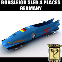Bobsleigh Sled - 4 Places - Germany