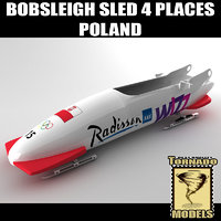 Bobsleigh Sled - 4 Places - Poland