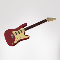 3ds max classic electric guitar stratocaster
