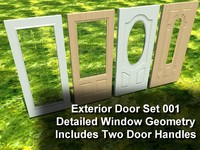 exterior doors set 3ds