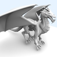 3d european dragon model