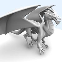 3d european dragon model