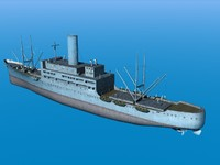 3d model merchant transport ship vessel