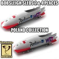 3d bobsleigh sled - poland model