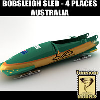 3ds max bobsleigh sled 4 places