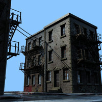 downtown set street 3d max
