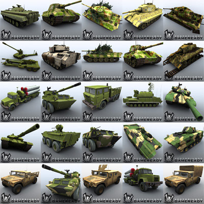 War Vehicles Games Game Ready Military Vehicle