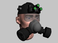 3d model tactical helmet
