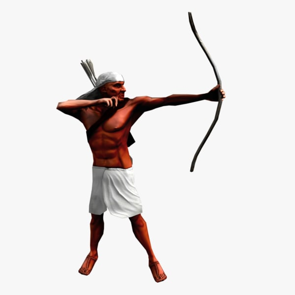 3dsmax egyptian archer bow animation