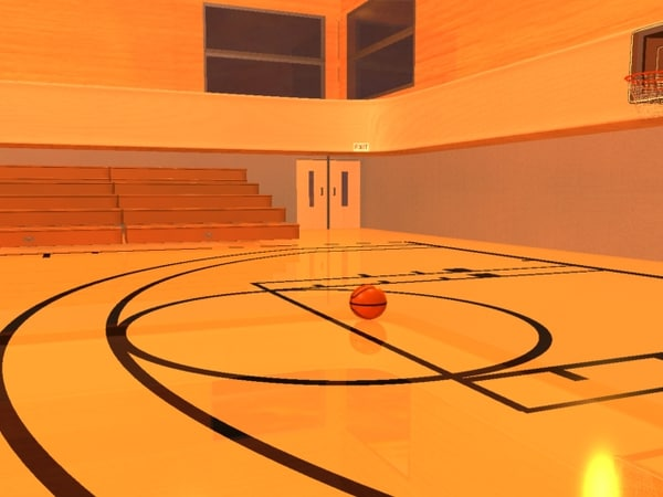 Basketball court 3d max for Free inside basketball courts
