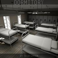 3dsmax dormitory interior bunks