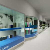 Department Store  Parfum Showcases