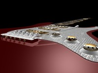 classic strato guitar 3d model