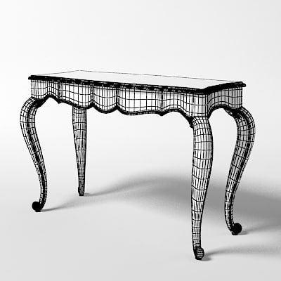 3d giusti portos console - giusti portos console table piena luce... by shop3ds