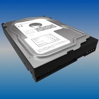 hard disk drive 3d max