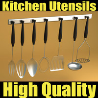 3d model kitchen utensils