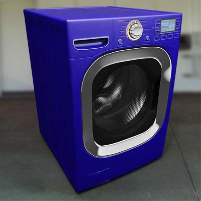 3d model blue washing machine. Black Bedroom Furniture Sets. Home Design Ideas