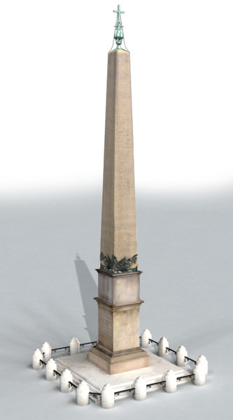 obelisk st peter rome 3d model - Obelisk of St. Peter Basilica (Rome)... by iaio82