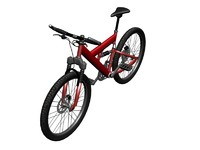 red mountain bicycle 3d max