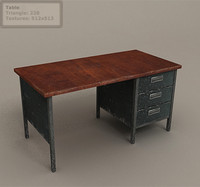 3d model table environment