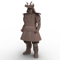 samurai warrior 3d model