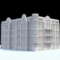 Highly detailed historical tenement house.